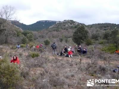 Senderismo Guadalajara - Monumento Natural Tetas de Viana. viajes puente san jose